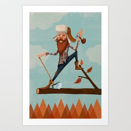 Lumber Jack Art Print