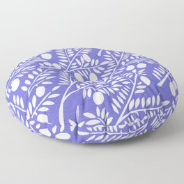 Olive Branches – Periwinkle Floor Pillow