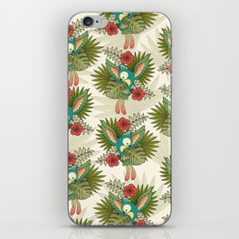 cute parrot iPhone Skin