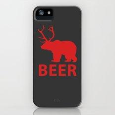 DEER & BEAR = BEER iPhone (5, 5s) Slim Case