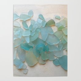 Ocean Hue Sea Glass Poster