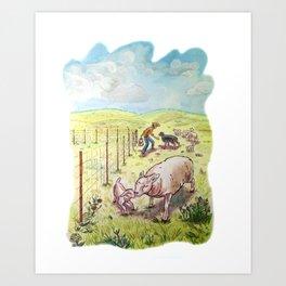 Popcorn the Lamb 5 Art Print