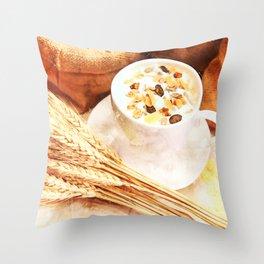Cereal Food Throw Pillow