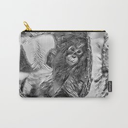 AnimalArtBW_OrangUtan_20170605_by_JAMColorsSpecial Carry-All Pouch