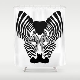 Zebra kiss Shower Curtain