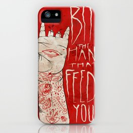 bite the hand. iPhone Case