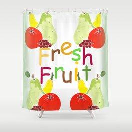 Fresh Fruit Green Shower Curtain