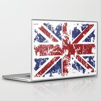 uk Laptop & iPad Skins featuring Grunge UK by Sitchko