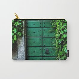Green Doorway with Ivy Photograph Carry-All Pouch