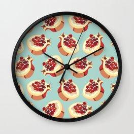 Pomegranate pattern Wall Clock