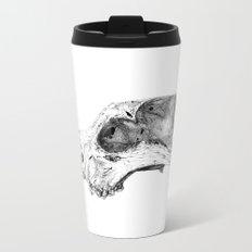 Wolf Skull Metal Travel Mug