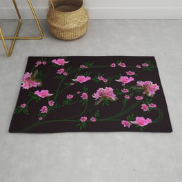 Pink flower clipping Rug