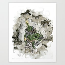 Dragon of The Mist Art Print