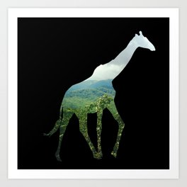 Giraffe in the Smokies  Art Print