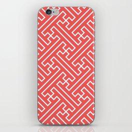 Lattice - Coral iPhone Skin