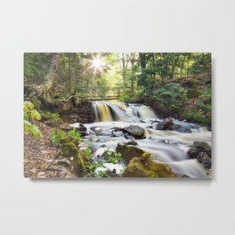 Upper Chapel Falls at Pictured Rocks National Lakeshore - Michigan Metal Print