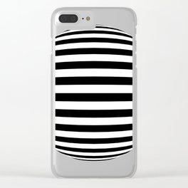 Blender Horizontal Striped Sphere 2 Color Clear iPhone Case