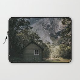 Mountain Cabin - Landscape and Nature Photography Laptop Sleeve