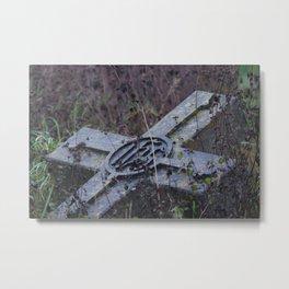 Headstone Metal Print