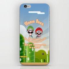 Super Mario Bros. Drain Cleaning & Plumbing Service iPhone & iPod Skin