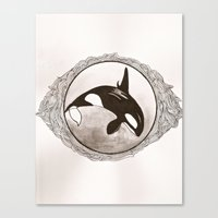 killer whale Canvas Prints featuring Killer Whale by AbigailMarian