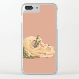Tyrannosaurus and Rosemary Clear iPhone Case