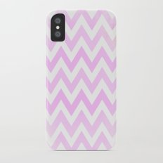 Pink Textured Chevron Pattern iPhone X Slim Case