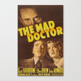 The Mad Doctor, vintage horror movie poster Canvas Print