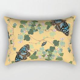 2941-Australian-Native-Violet-and-Blue-Butterfl Yellow Rectangular Pillow