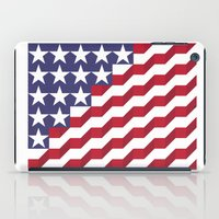 american flag iPad Cases featuring American Flag by Mychal Diaz