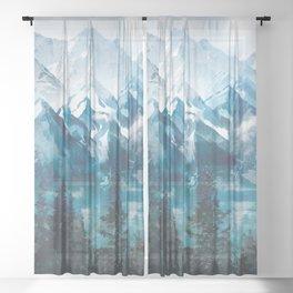 Towering Peaks Sheer Curtain