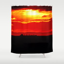Ship under the Sun Shower Curtain