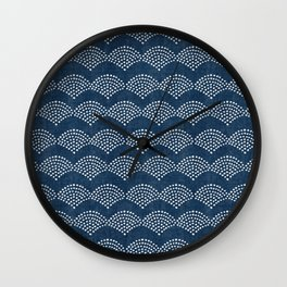 Wabi Sabi Arches in Blue Wall Clock
