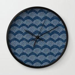 Wabi Sabi Arches in Blue Wall Clock