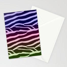 Pastel Zebra Stripe Pattern Stationery Cards