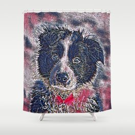 GlitzyAnimal_Dog_011_by_JAMColors Shower Curtain