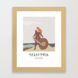 SHIELD MAIDEN - BLUETOOTH's WOMEN VIKING WARRIOR Framed Art Print