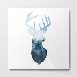 Nature's Spirit: The Buck Metal Print