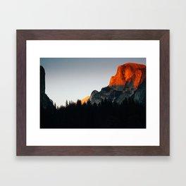 Last Light at Half Dome  Framed Art Print