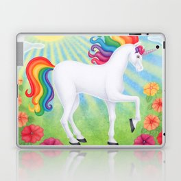 daydreamer (rainbow unicorn), sunshine, petunias Laptop & iPad Skin