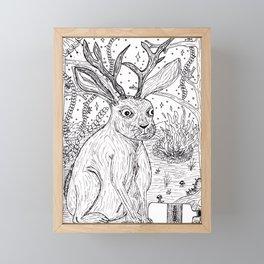 Drunk Jackalope Framed Mini Art Print