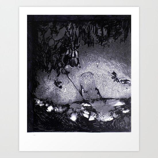 Cave Drawing III Art Print