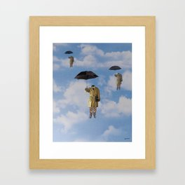 going to work Framed Art Print