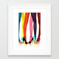 legs Framed Art Prints featuring Legs by Wanker & Wanker