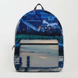 Indy's Lucas Oil Stadium Near the White River Backpack
