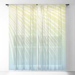 Pastel Palm 03 Sheer Curtain