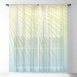 Pastel Palm 03 Sheer Curtain