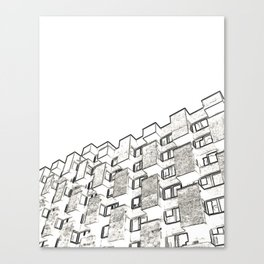 Architecture: brutalism Canvas Print