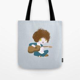 Curly Bob Tote Bag