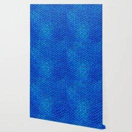 Mermaid Scales - Blue Wallpaper